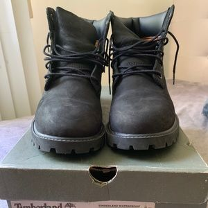 Black Timberland 6 Inch Classic Waterproof Boot